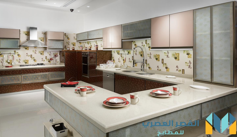 مطبخ المنيوم مع كلادنج و زجاج