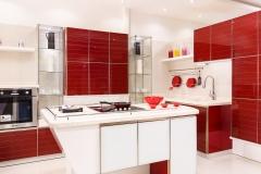 مطبخ المنيوم مع درف زجاج
